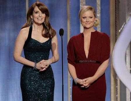 Tina Fey y Amy Poehler en los Globos de Oro 2013