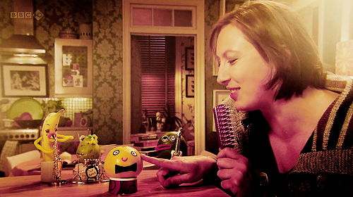 Miranda Hart y los fruit friends de Miranda