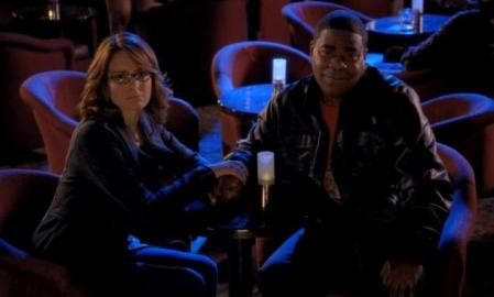 Tina Fey y Tracy Morgan en la finale de 30 Rock