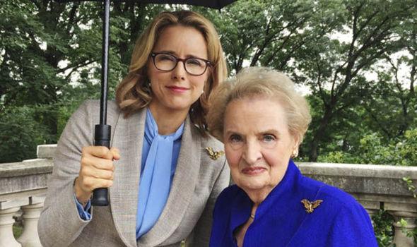 Tea Leoni y Madeleine Albright en la segunda temporada de Madam Secretary